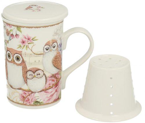 cana de ceai cu bufnita