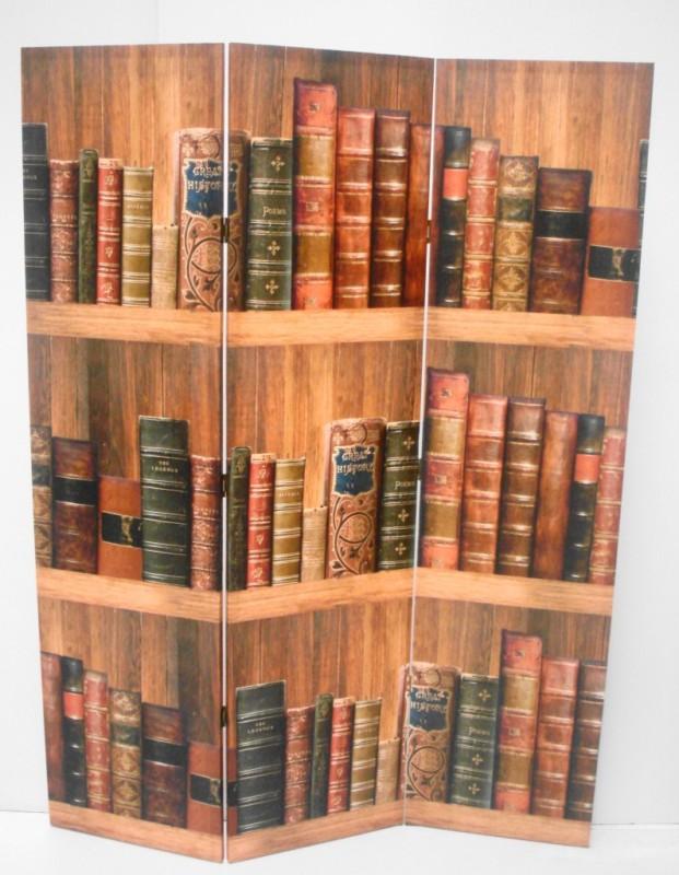 Paravan decorativ de birou sau biblioteca