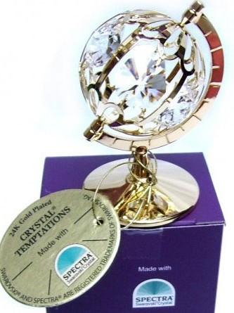 Glob pamantesc cu cristale Swarovski
