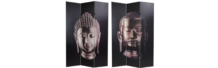 Paravan decorativ oriental cu Buddha