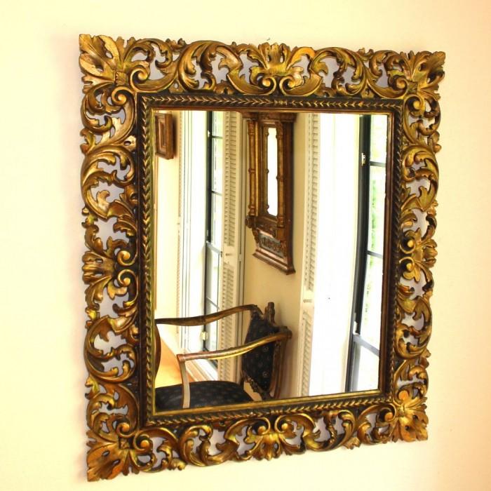 Oglinda cu rama sculptata antichizata