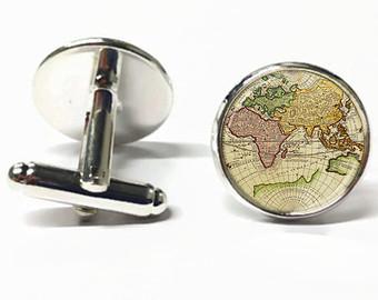 Butoni de camasa cu harta lumii