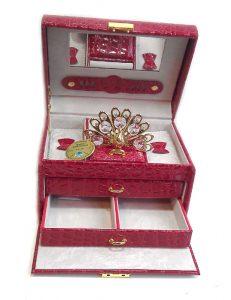 caseta de bijuterii paun