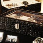 Cutie pentru ceasuri din piele