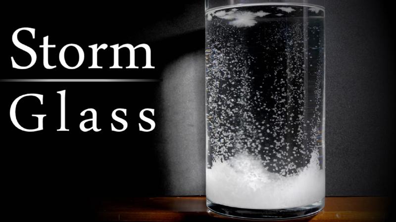 Barometru de birou sticla furtunii