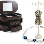 Caseta si suport de bijuterii
