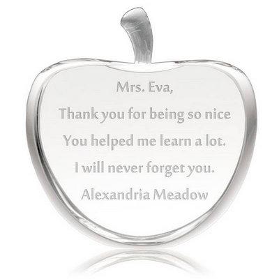 Cadou pentru profesor mar gravat cu mesaj