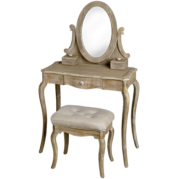 masa de machiaj in stil retro set cu scauna