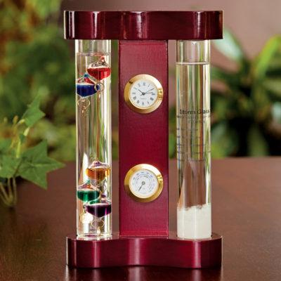 Termometru Galileo Galilei set de birou cu ceas cadou pentru profesor