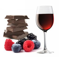 Ciocolata si pahar de vin