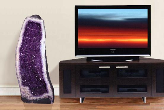 nu trebuie sa te uiti la televizor, geoda de ametist