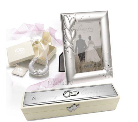 Cadou de nunta rama potcoava suport pentru certificat