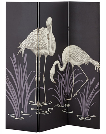 Paravan decorativ cu pasari flamingo