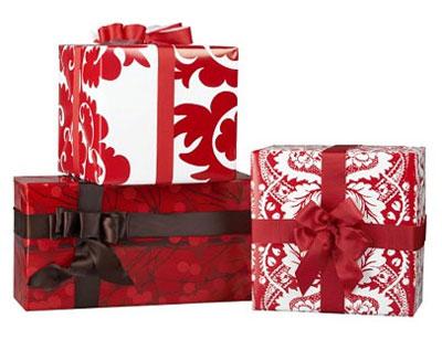 Cuti e de cadou, cadouri ambalate