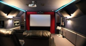 Home cinema living room
