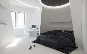 dormitor design interior futurist.