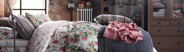 Lenjerie de pat decorativa, decor de dormitor