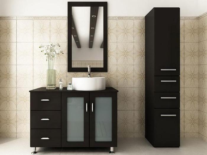 Oglinda de baie si cabinet