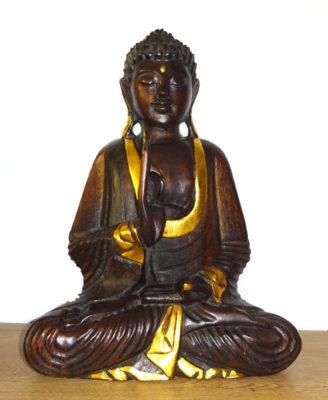 Buddha statueta de lemn sculptat