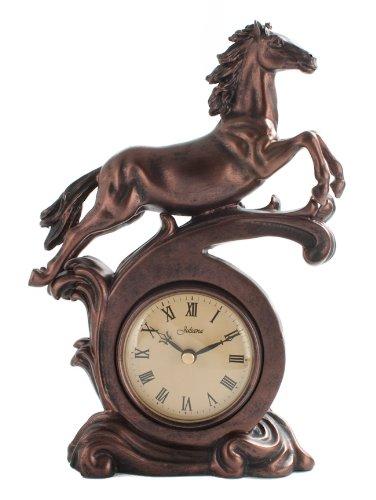 Ceas cu cal cu aspect metalic antichizat