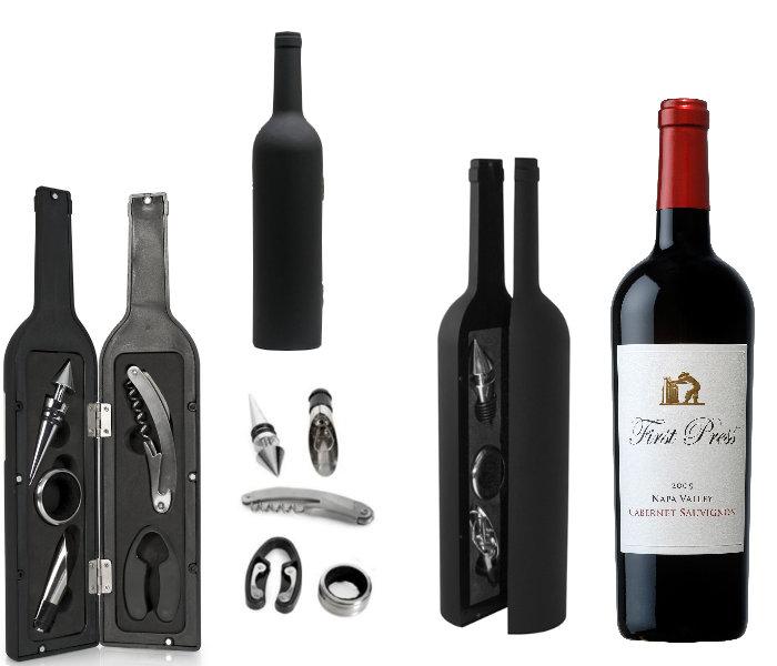 Kit desfacator pentru sticla de vin