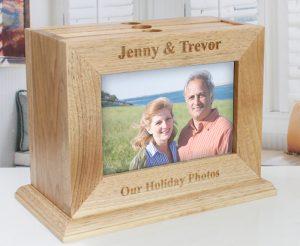 Album foto cutie de lemn