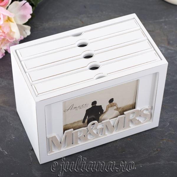album foto de nunta cutie de lemn