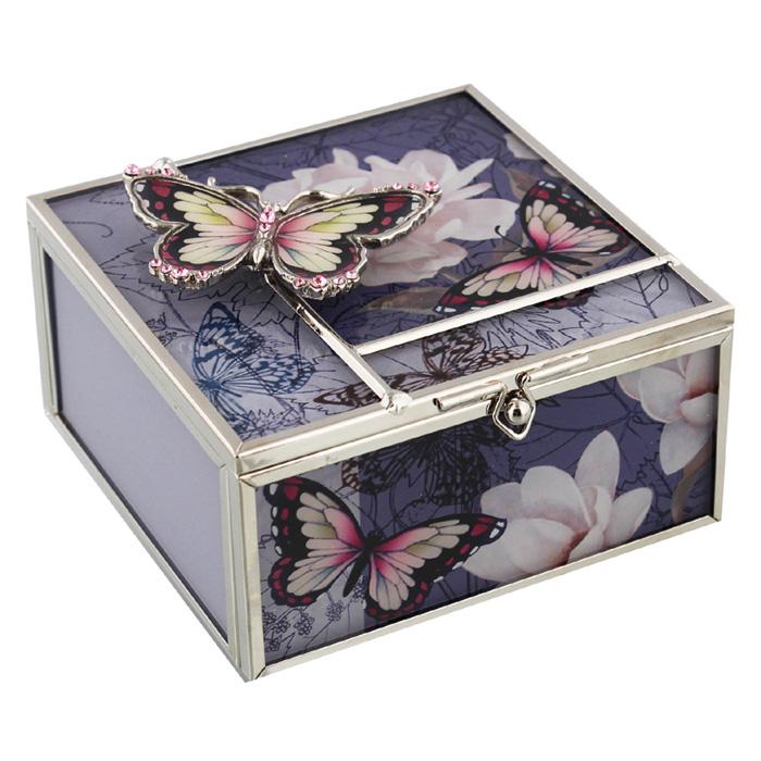 Caseta de bijuterii Hestia cu fluturi. casete pentru bijuterii