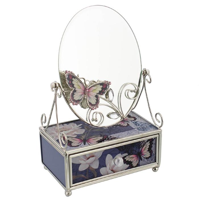 Caseta de bijuterii Hestia cu oglinda.