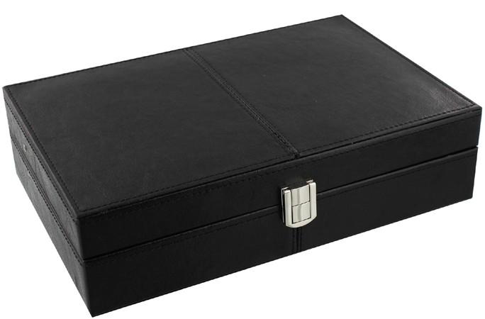 Cutie pentru ceasuri din piele neagra idei de cadouri pentru barbati