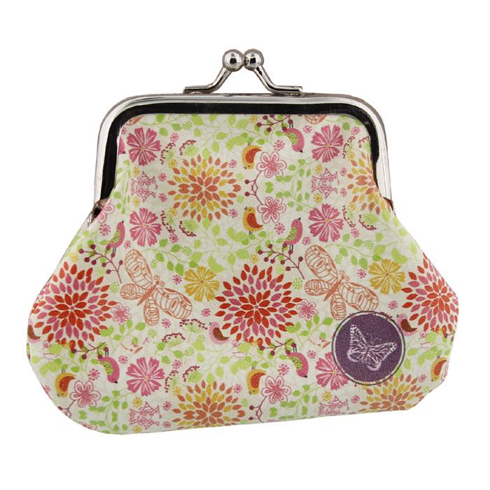 Portmoneu de geanta inflorat.
