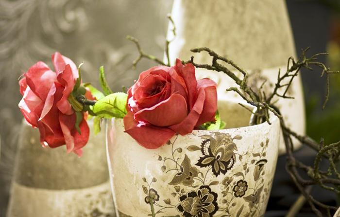 Flori artificiale trandafiri acasa