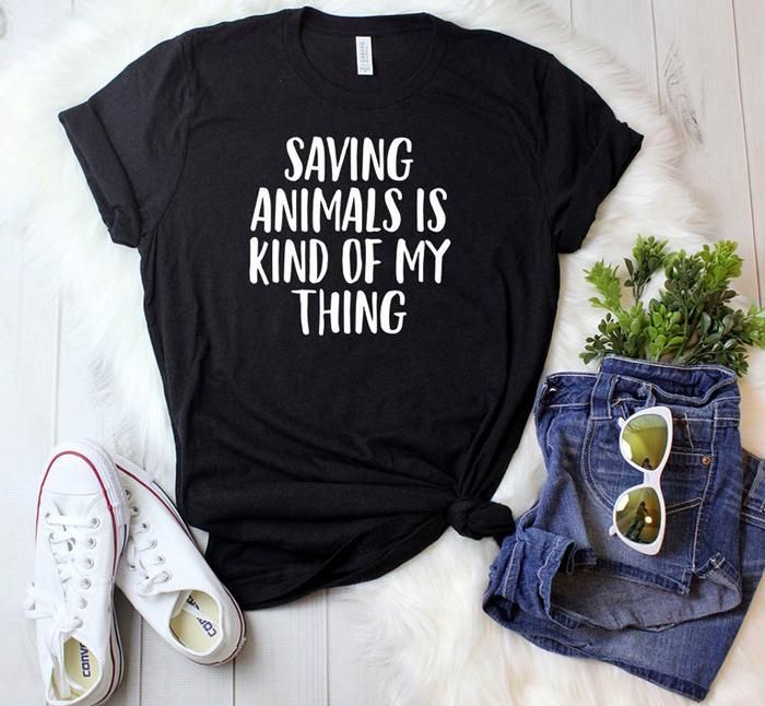 Tricou personalizat cu mesaj despre animale