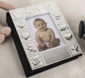 Cadouri personalizate Album foto placat cu argint personalizabil