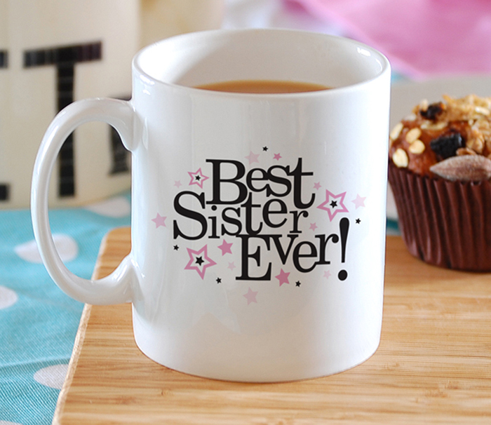 Cana de cafea cadou pentru cea mai buna sora