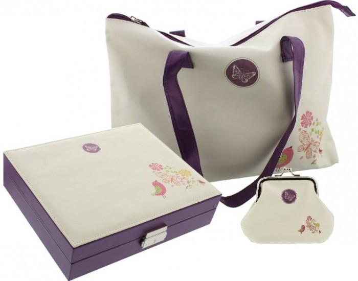 Caseta de bijuterii geanta si porftmoneu