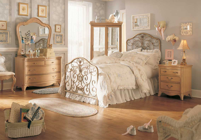 Dormitor vintage, mobila clasica