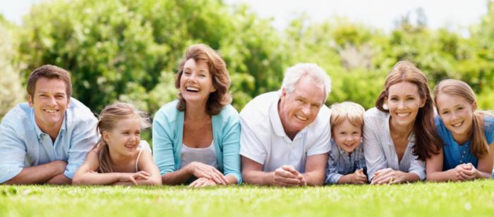 O familie fericita.