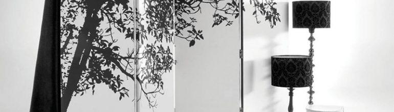 Paravan decorativ cu copac