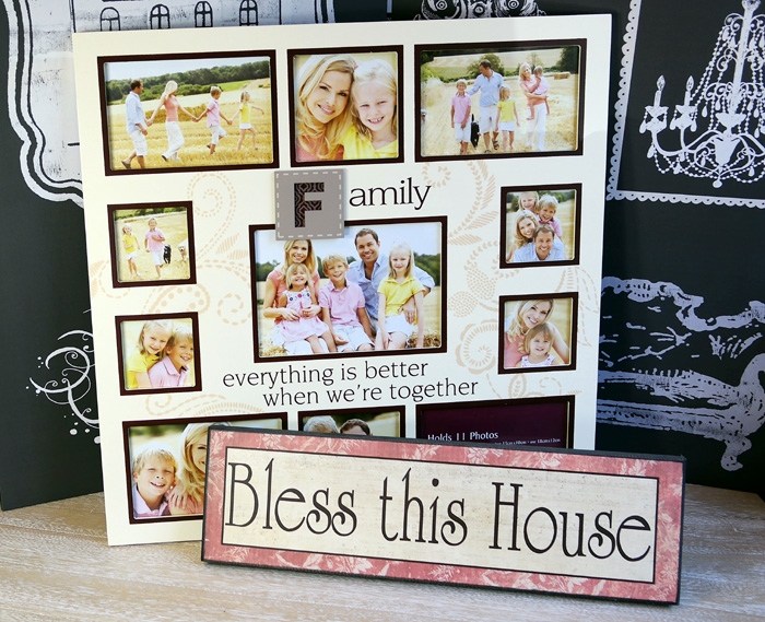 "Rama Family si tabloul ""Bless this house""."