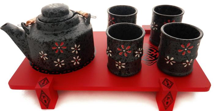 Set de ceai cu ceainic si cesti antichizate