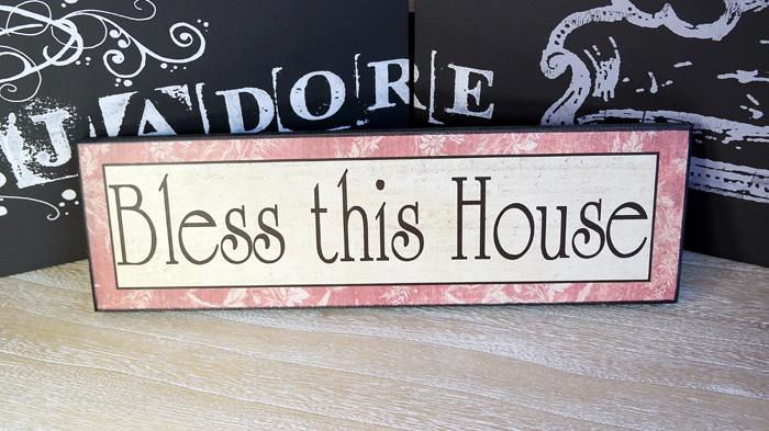"Tablou ""Bless this house"". Cadouri pentru familie"