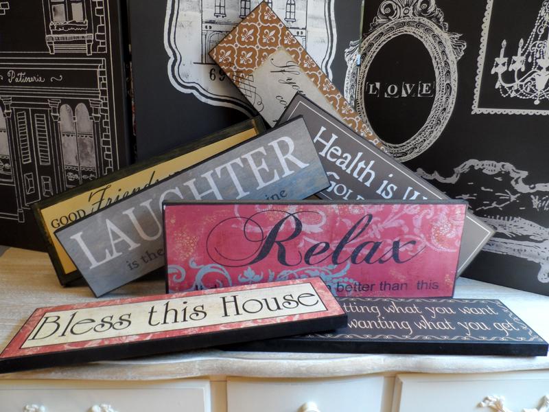 Tablouri cu mesaje inspirationale, Decoratiuni pentru casa