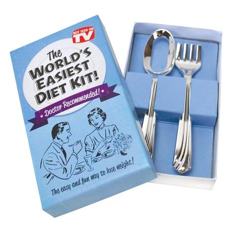 Cadouri funny lingura si furculita pentru dieta