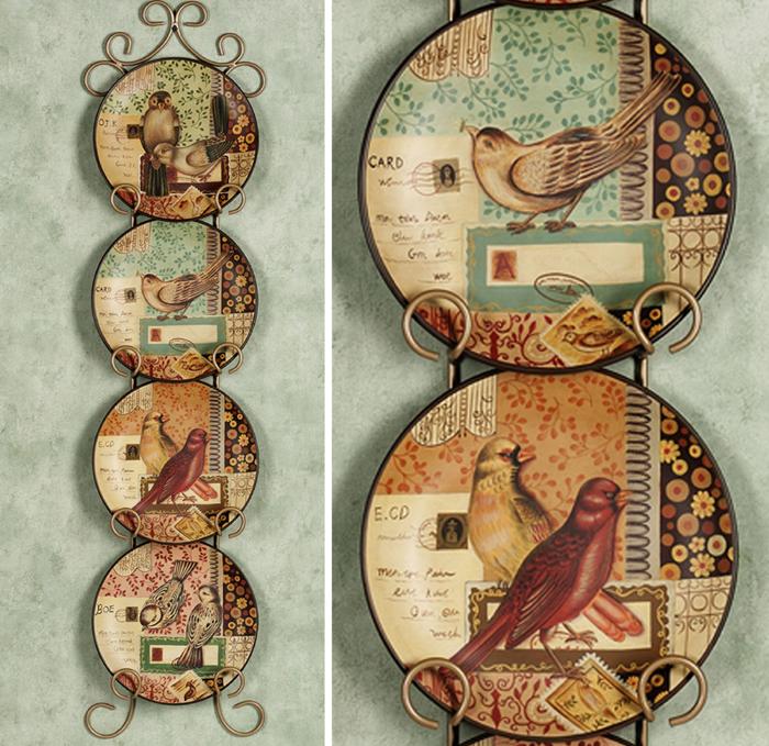 Farfurii decorative cu pasari pentru bucatarie