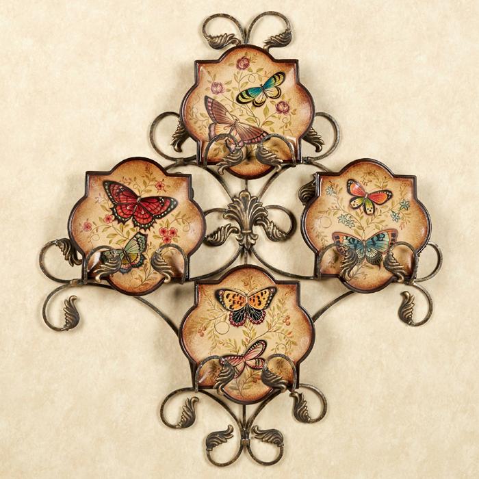 Farfurii decorative cu fluturi pentru bucatarie