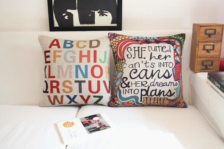 Perne decorative cu scris pentru sufragerie
