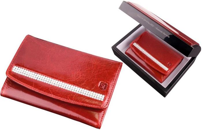 Cadouri de lux pentru femei portofel de piele cu cristale Swarovski