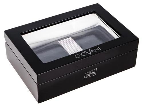 Cadouri de lux pentru femei portofel de piele cu cristale Swarovski in caseta de bijuterii