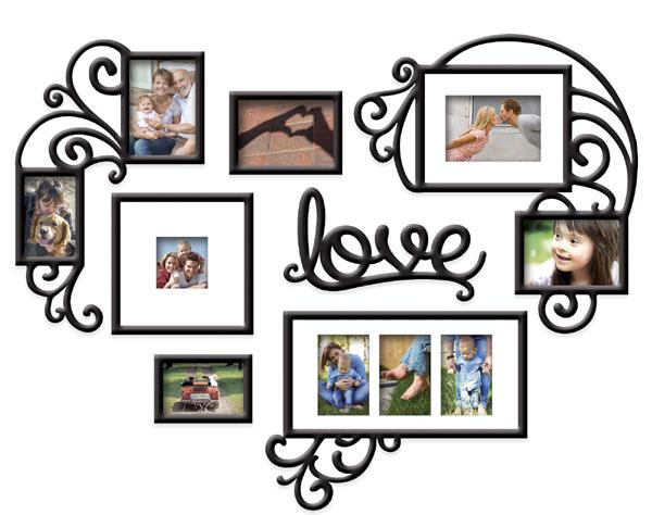 Decor de camera cu rame foto de familie